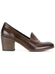 Pantanetti Block Heel Pumps Brown