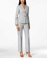 Le Suit Striped Two Button Pantsuit Regular And Petite Silver Navy
