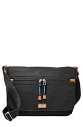 Fossil 'Blake' Canvas Messenger Bag Black