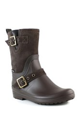 Santana Canada Cayley Faux Fur Lined Short Rainboot Brown
