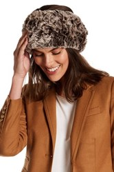 Dena Genuine Rabbit Fur Headband Brown