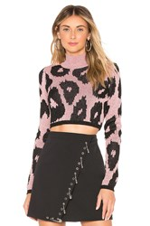Versus By Versace Cropped Sweater Pink