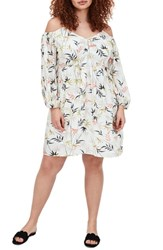 Elvi Plus Size The Asa Cold Shoulder Dress Multi