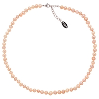 Finesse Freshwater Faux Pearl Necklace Pink