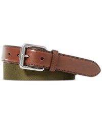 Polo Ralph Lauren Men's Webbed Roller Buckle Belt Rugby Olive