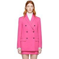 Calvin Klein 205W39nyc Pink Wool Double Breasted Blazer