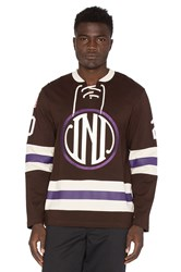 Undefeated Enforcer Hockey Jersey Brown