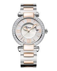 Chopard Imperiale Two Tone 36Mm Watch With Diamonds