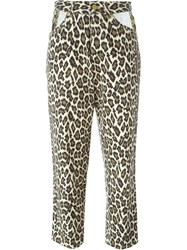 Jean Paul Gaultier Vintage Leopard Print Jeans Nude And Neutrals