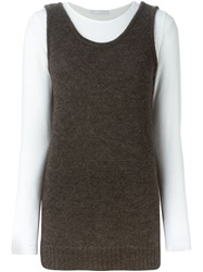 Societe Anonyme 'Supertank' Top Brown