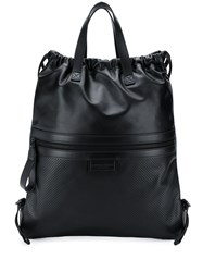 Bottega Veneta Flat Tote Backpack Black