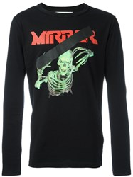 Off White Mirror Skull T Shirt Black
