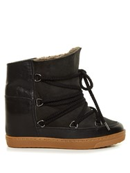 Isabel Marant Etoile Nowles Concealed Wedge Lined Ski Boots Black