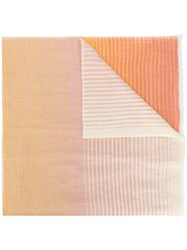Sonia Rykiel Woven Stripe Scarf Yellow And Orange