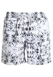 Sundaze The Black Blossom Swimming Shorts White