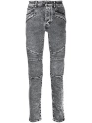 Marcelo Burlon County Of Milan Ribbed Biker Jeans Grey