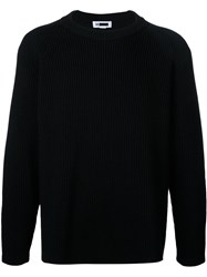H Beauty And Youth Ribbed Detail Jumper Black