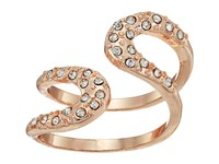 Guess Pave Loop Wrap Ring Rose Gold Crystal Ring