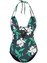 Morgan Lane Floral Bonnie Swimsuit Black