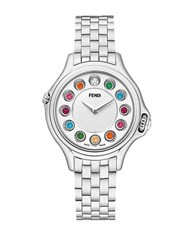 Fendi Ladies Crazy Carats Small 33Mm Stainless Steel Watch Silver