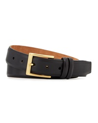 W.Kleinberg Basic Leather Belt With Interchangeable Buckles Black