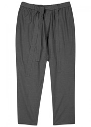 Necessity Sense Mich Charcoal Cropped Trousers Grey