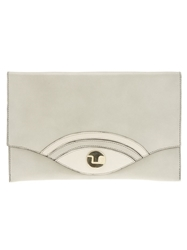 Ted Lapidus Vintage Fold Over Clutch Green