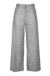 Topshop Check Tonic Suit Trouser Grey