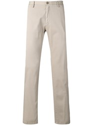 Hugo Boss Straight Leg Trousers Neutrals