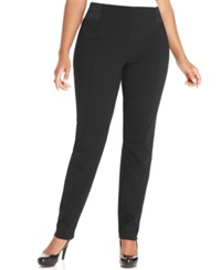 Style And Co. Plus Size Pull On Skinny Pants Deep Black