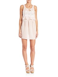 For Love And Lemons Sienna Sleeveless Keyhole Dress Dusty Rose