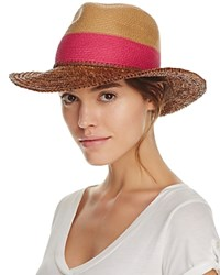 Echo Color Block Panama Hat Pink Raspberry Beige