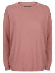 Jaeger Cashmere Slouchy Jumper Pale Pink