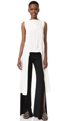 Narciso Rodriguez Sleeveless Long Top Gesso