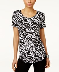 Jm Collection Printed T Shirt Only At Macy's Tectonic Stripe