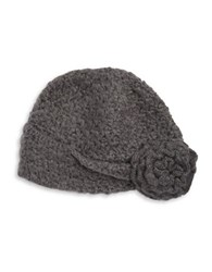 Wooden Ships Knit Rosette Flapper Beanie Grey
