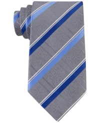 Geoffrey Beene Men's Stressless Stripe Tie Blue