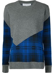 Thakoon Addition Plaid Paneled Sweater