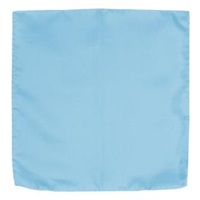Forzieri Solid Silk Pocket Square Sky Blue