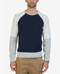 Nautica Men's Slim Fit Colorblocked Sweatshirt Grey Heather