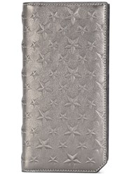 Jimmy Choo Cooper Star Embossed Wallet Men Calf Leather One Size Metallic