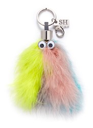 Sophie Hulme 'Willow' Turkey Feather Keyring Multi Colour