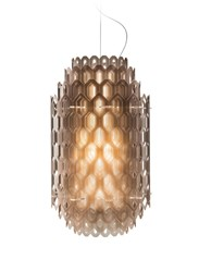 Slamp Chantal Pendant Small 24 In Height Orange