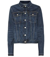 Rag And Bone Cuffless Denim Jacket Blue