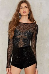 Nasty Gal Collection All That Glitters Beaded Shorts Black