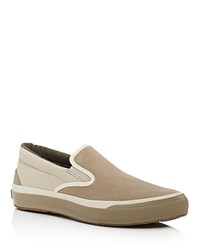The Hill Side Two Tone Synth Suede Slip On Sneakers Tan