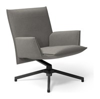 Knoll Pilot By Lounge Chair Low Back With Upholstered Arm