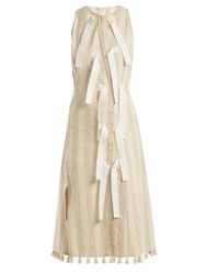 Altuzarra Blanche Diamond Jacquard Dress Ivory