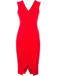Victoria Beckham Fitted Dress Red