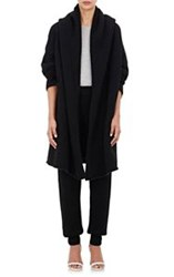 Lauren Manoogian Hooded Capote Coat Black